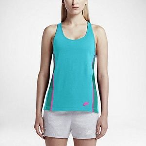 NWT Nike women's workout teal athletic tank top
